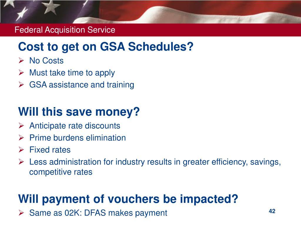 Cost to get on GSA Schedules?
