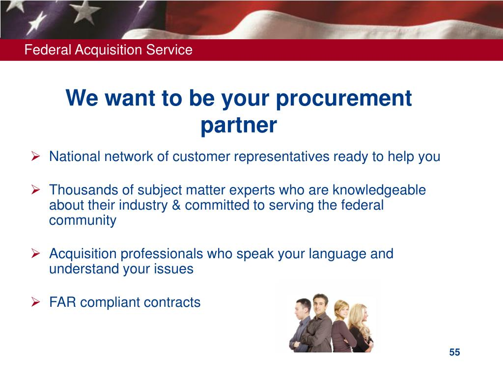 We want to be your procurement partner