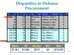 disparities in defense procurement