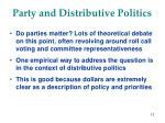 party and distributive politics