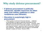 why study defense procurement7