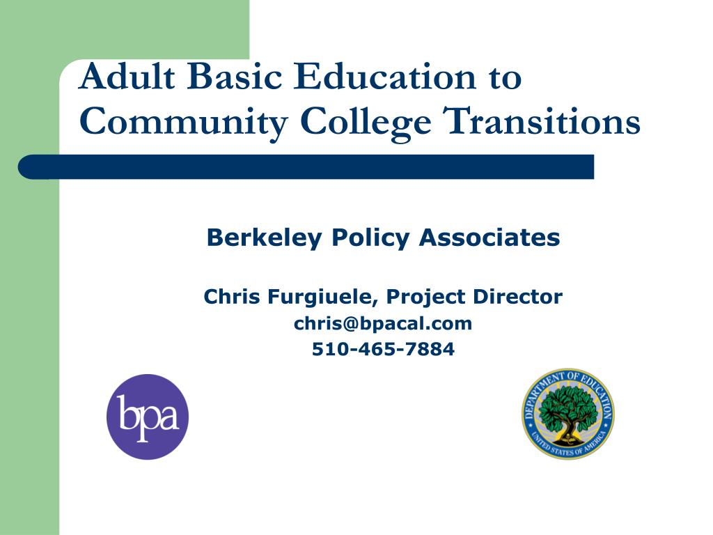 adult basic education to community college transitions l.