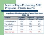 selected high performing abe programs florida con t