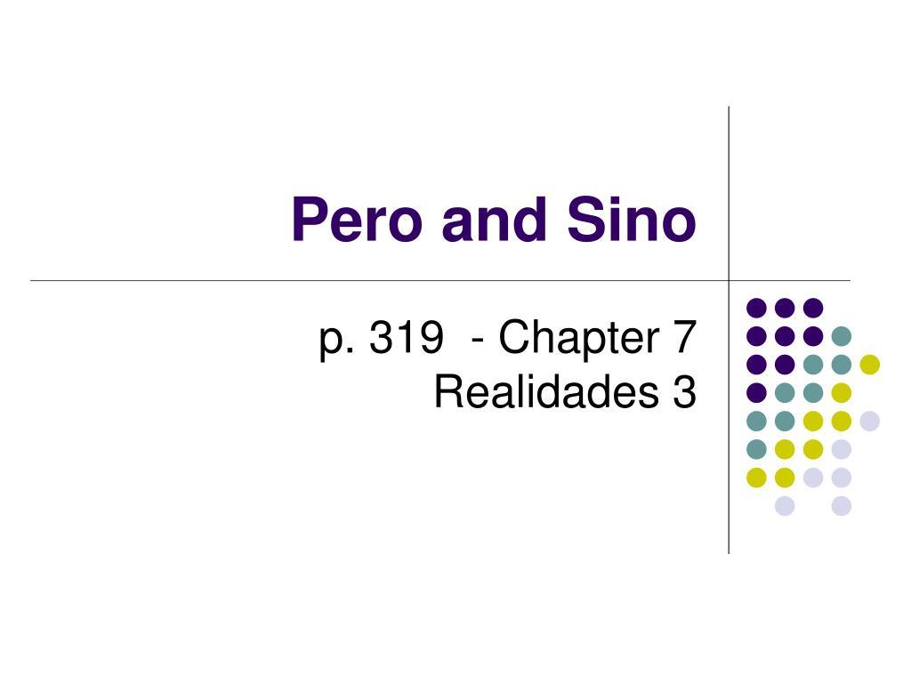 pero and sino l.
