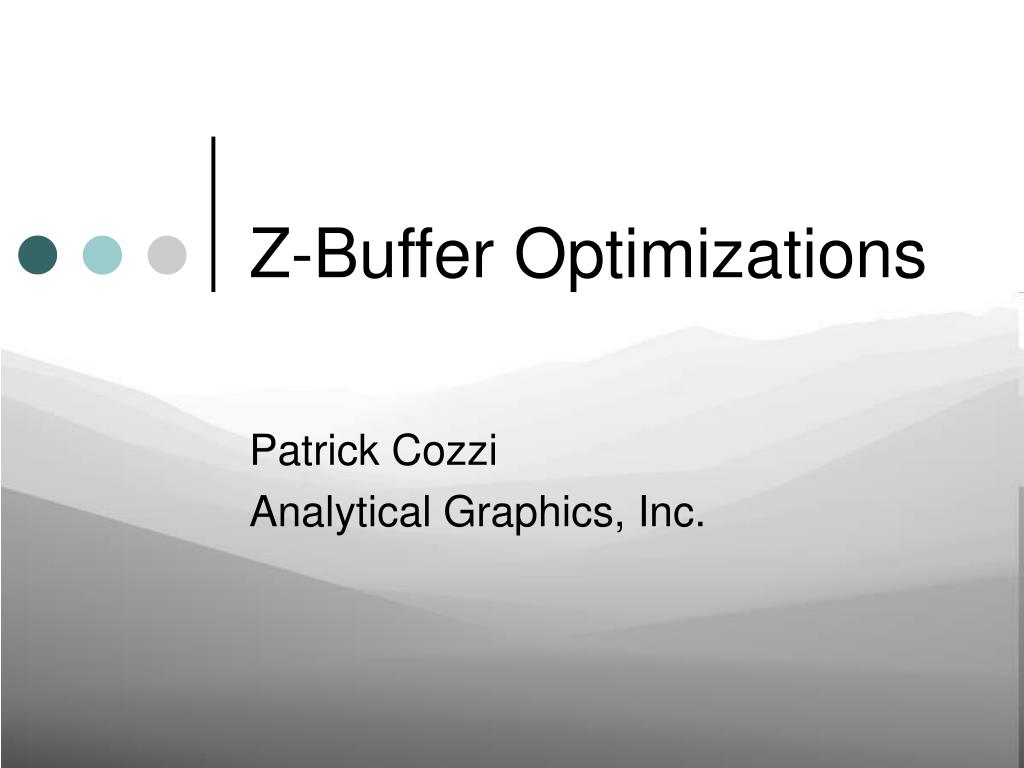 z buffer optimizations l.