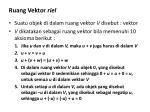 ruang vektor riel