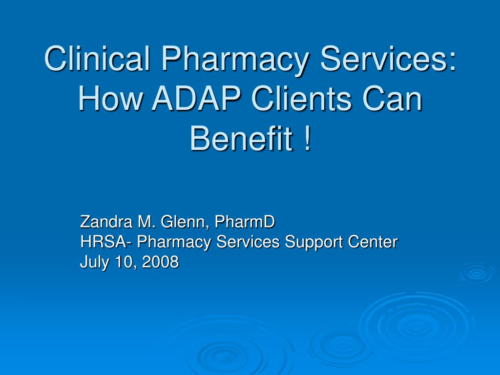 clinical pharmacy services how adap clients can benefit l.