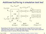 additional buffering in simulation test bed
