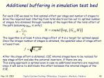 additional buffering in simulation test bed1
