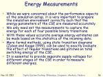energy measurements