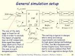 general simulation setup