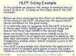 hlff sizing example1