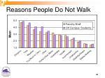 reasons people do not walk