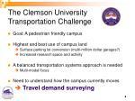 the clemson university transportation challenge