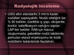 radyolojik inceleme