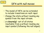 dfa with null moves