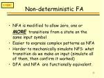 non deterministic fa