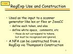 regexp use and construction