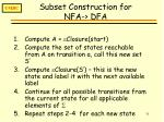subset construction for nfa dfa