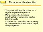 thompson s construction