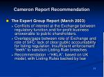 cameron report recommendation