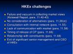 hkex challenges