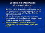 leadership challenges communications