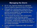 managing the storm