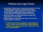 political and legal clarity