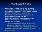 priorities within sfc