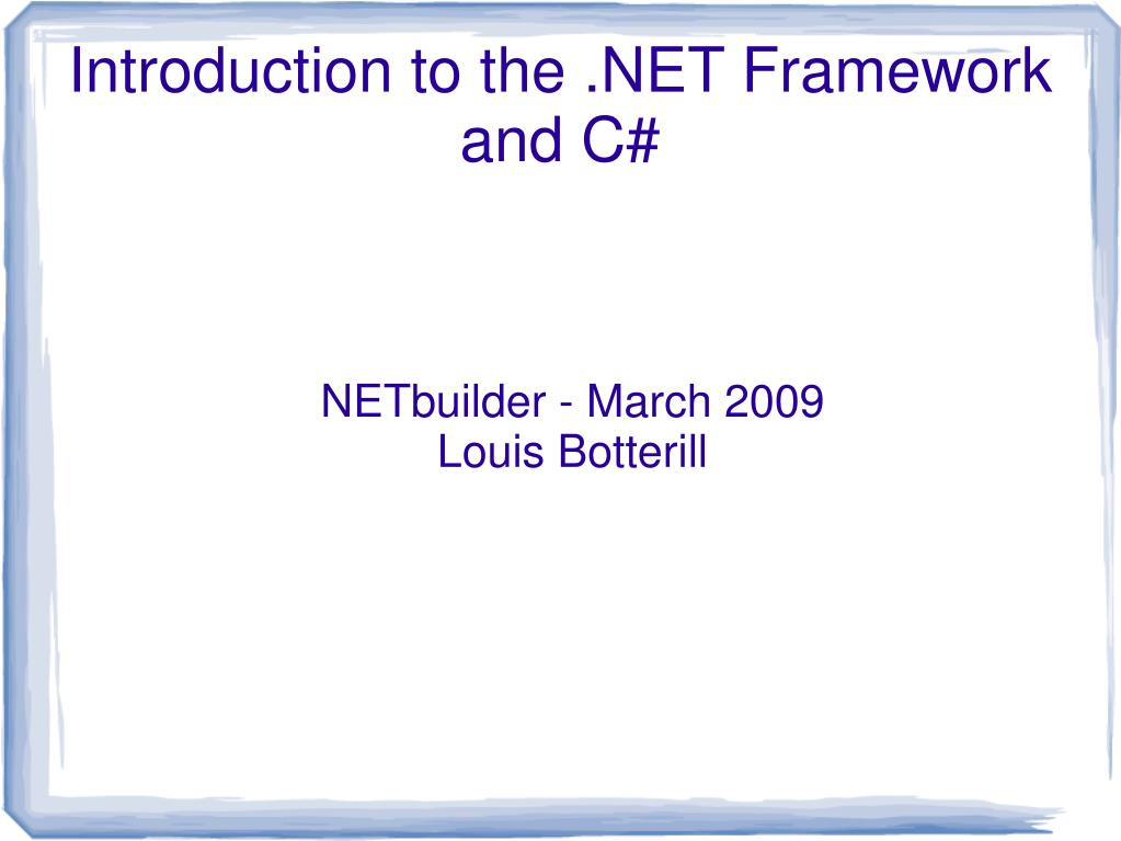 netbuilder march 2009 louis botterill l.