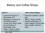 bakery and coffee shops
