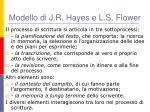 modello di j r hayes e l s flower