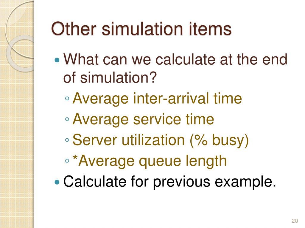 Single server queue simulation in excel
