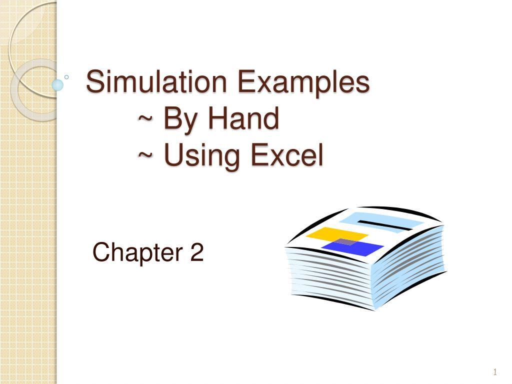 simulation examples by hand using excel l.