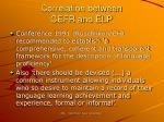 correlation between cefr and elp