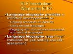 elp introduction what is the elp5