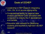 goals of ochep
