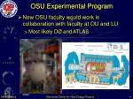 osu experimental program