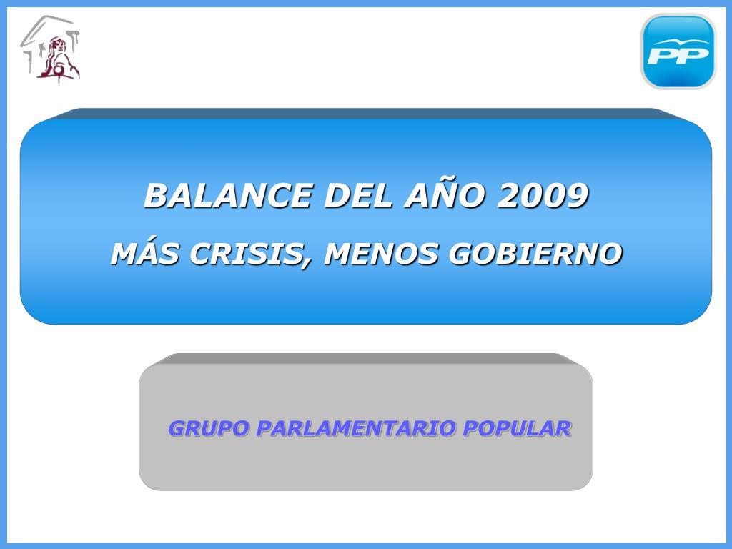 BALANCE DEL AÑO 2009