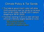 climate policy tar sands