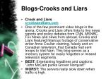 blogs crooks and liars