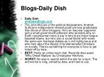 blogs daily dish