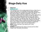 blogs daily kos