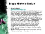 blogs michelle malkin