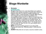 blogs wonkette