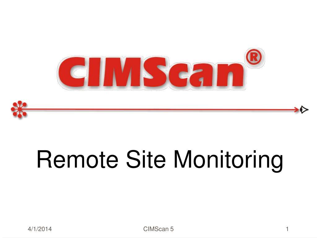 remote site monitoring l.