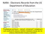 nara electronic records from the us department of education