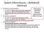 system informatyczny dok adno informacji