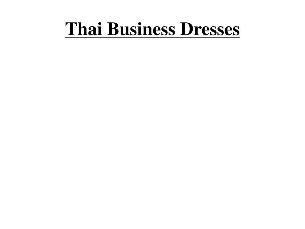 thai business dresses l.